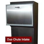Recycling Duo / Trio Chute, Stainless Steel Door