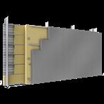 doppelte aussenfassade stahl oder aluminiumlamellen verlegung v vollständige platten dämmung abstandhalter