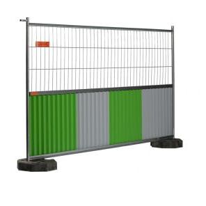 cisabac clôture mobile grillagée bardée cmgb 235