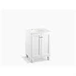 "damask® 24"" wall-hung bathroom vanity cabinet with 2 doors"