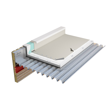 mechanically fixed synthetic (pvc) waterproofing system on steeldeck with eps insulation
