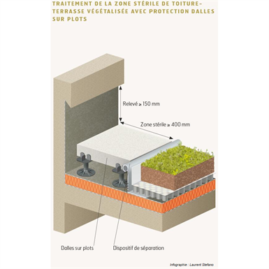 Garden Roofs And Green Roofs With A Concrete Structural