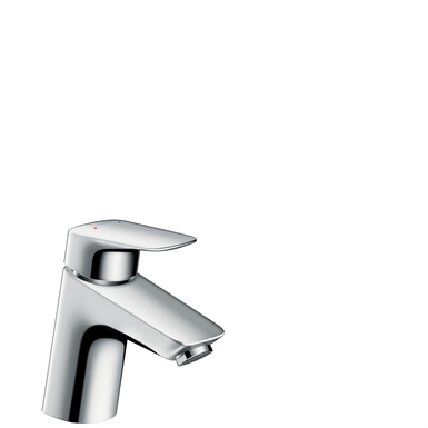 Logis Single lever basin mixer 70 with pop-up waste set 71070000