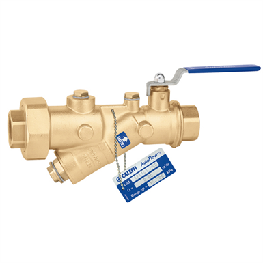 AUTOFLOW® - Automatic flow rate regulator with high resistance polymer cartridge and ball valve