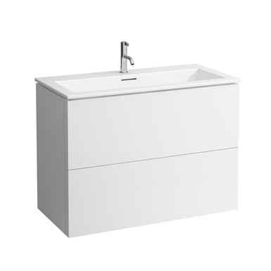 KARTELL BY LAUFEN Combination of washbasin with vanity unit 1000 mm