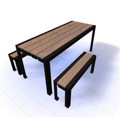 WYNNE PICNIC TABLE 6FT (SiteScapes Inc ) | Free BIM object