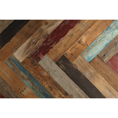 Reclaimed Pine Paint, Herringbone