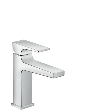 Metropol Single lever basin mixer 110 with lever handle and push-open waste set 32507000