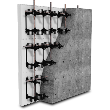 "BuildBlock Hardwall Concrete Faced (ICFs) 12"" Straight Forms"