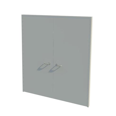 Series 2-7 30,60,90,120mm Double Leaf Fire Door NG0