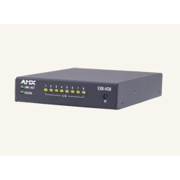 EXB-I/O8 ICSLan Input/Output Interface, 8 Channels, Control Boxes Allow Users to Manage Devices Remotely from a Controller Over an Ethernet Network
