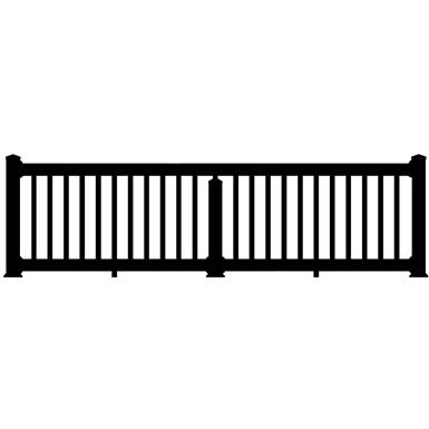 FALCON VINYL RAILING - CROSSOVER (Digger Specialties, Inc