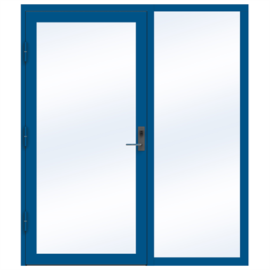 Steel Door SD4220 P65 EI30 Single with Sidelight on Right