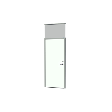 Aluminum frame door ID sealed