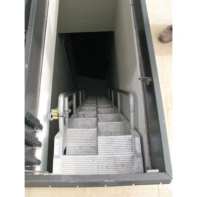 ALUMINUM ALTERNATING TREAD LADDER TO HATCH (Precision Ladders, LLC