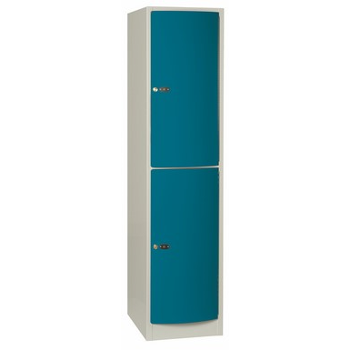 2-Compartment Locker Arched Steel Door W:400 D:500 H:1700