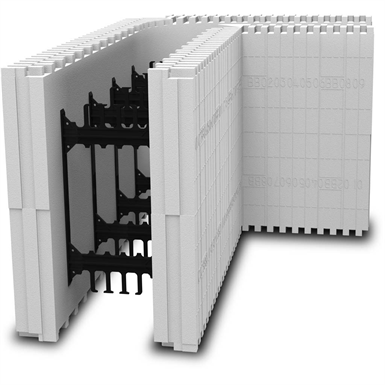 BuildBlock Insulating Concrete Forms (ICFs) 90-Degree Corner 8""