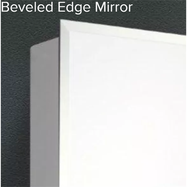 "Euroline Series Beveled Edge Medicine Cabinet - 18"" x 24"" Partially Recessed Mounted"