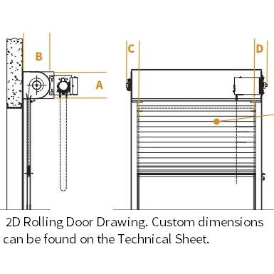 rolling service doors (the cookson company) free bim object for Overhead Garage Door Diagram