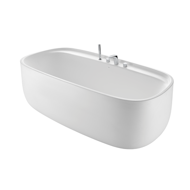 BEYOND Free-standing SURFEX® bath with taps
