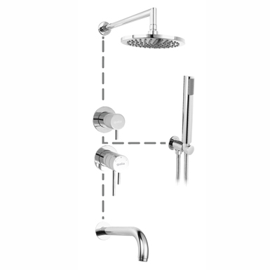 Cosmo Concealed thermostatic bath/shower mixer.