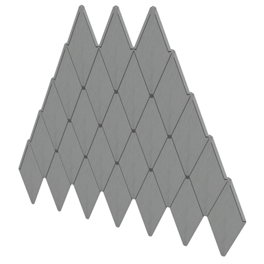 Rhomboid tile
