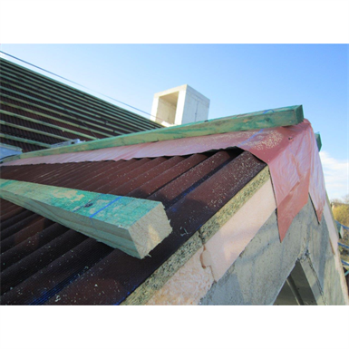 Onduline ETICS for concrete-slab roofs finished with Roman tiles