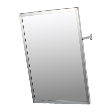 "Accessible Mirror Series Stainless Steel Frame Adjustable Tilt Mirror - 24"" x 36"" Surface Mounted"