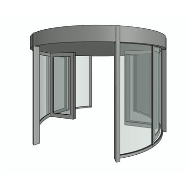 REVOLVING DOOR, KTC2 (dormakaba Group) | Free BIM object for Revit