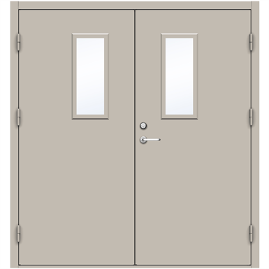 Steel Door SD4210 GS1L - Double Equal