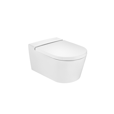 INSPIRA ROUND - Vitreous china Rimless wall-hung WC with horizontal outlet
