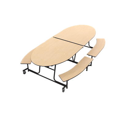 Peachy Mobile Bench Table Elliptical Amtab Manufacturing Corp Andrewgaddart Wooden Chair Designs For Living Room Andrewgaddartcom