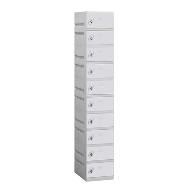 90000 Series Plastic Lockers - Ten Tier - 1 Wide