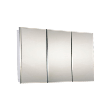"Tri-View Series Beveled Edge Medicine Cabinet - 48"" x 30"" Fully Recessed Mounted"