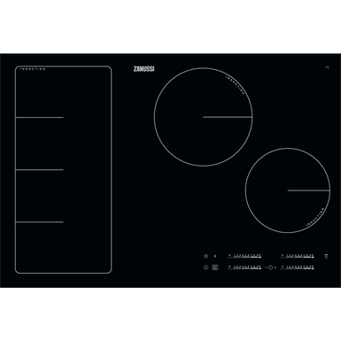 Zanussi Induction Full Hob 80 Black