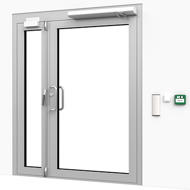 ENTRANCE DOOR WITH CARD READER (ASSA ABLOY NO) | Free BIM object for