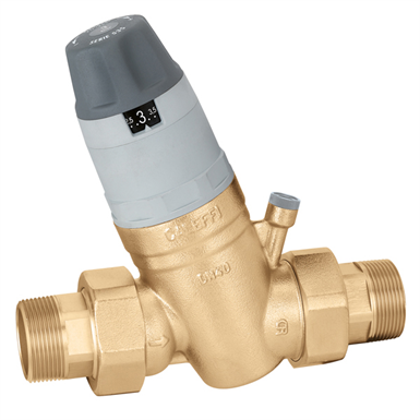 PRESSURE REDUCING VALVE WITH SELF-CONTAINED REPLACEABLE CARTRIDGE