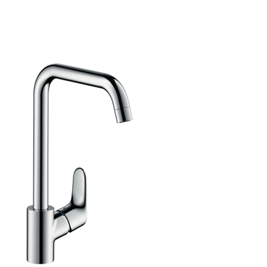 Focus Single lever kitchen mixer 260 with swivel spout 31820000