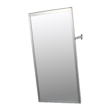 "Accessible Mirror Series Stainless Steel Frame Adjustable Tilt Mirror - 18"" x 36"" Surface Mounted"