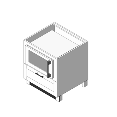MICROWAVE BASE: (OBMW) (Brown Jordan Outdoor Kitchens) | Free BIM