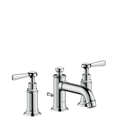 AXOR Montreux 3-hole basin mixer 30 with lever handles and pop-up waste set 16535000