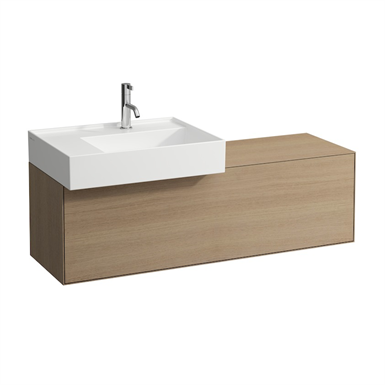 BOUTIQUE Vanity unit 1200 x 380 mm, with cut out left, with siphon