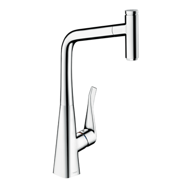 Metris Select Single lever kitchen mixer 320 with pull-out spout 14884001