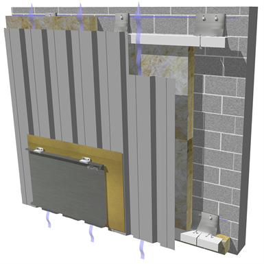 Angle seam cladding