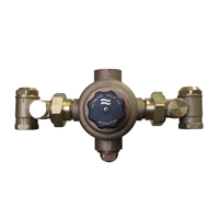 LVC Model LV-982-LF - Single, Thermostatic Master Mixing Valve featuring a Wax Element