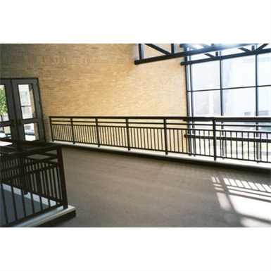 ALUMINUM PICKET RAILING, PICKET RAILING WITH TOP RAIL AND TWO MID
