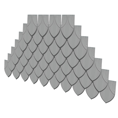POINTED FISH SCALE TILE (elZinc) | Free BIM object for