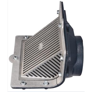 Z187 Scupper Drain With Oblique Grate Threaded Outlet Zurn Industries Free Bim Object For Revit Revit Bimobject