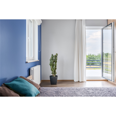 Porte Fenêtre Pvc 1 Vantail A70 Pose En Applique Extérieur Ite