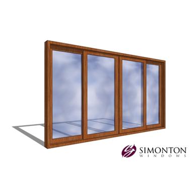 Simonton Sliding Doors >> Reflections 5500 Series Patio Door 4 Lite Simonton